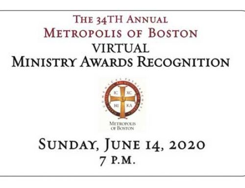 The 34th Metropolis of Boston Virtual Ministry Awards to be held virtually on Sunday, June 14th